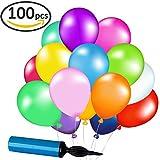 LIVEHITOP 100 Stück Latex Ballons Luftballons Set mit Luftpumpe Weihnachten Geschenk für Geburtstag Hochzeit Festival Party Weihnachten Dekorationen