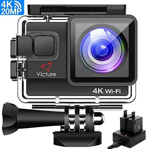 Victure Action Cam 20MP Ultra HD 4K Wi-Fi Impermeabile 40M...