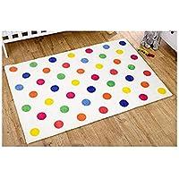 Kit for Kids Unisex Rug Multi Colour, Polka Dot Nursery Rug (1 Meter x 1.5 Meter)