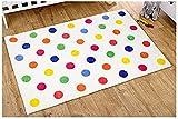 Kit for Kids Unisex Rug (Multi Colour, Polka Dot)