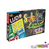 Kids Mandi Ludo Snake And Ladder Jr Travel Kit - Multi Color
