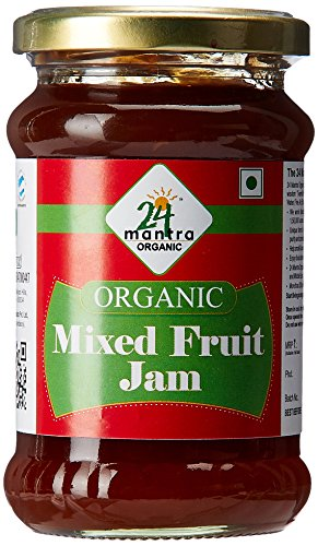 24 Mantra Organic Mixed Fruit Jam, 350g  available at amazon for Rs.140