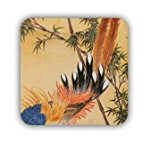 For Men Square Refrigerator Magnet With Chinese Style 2 Light Made By Mdf