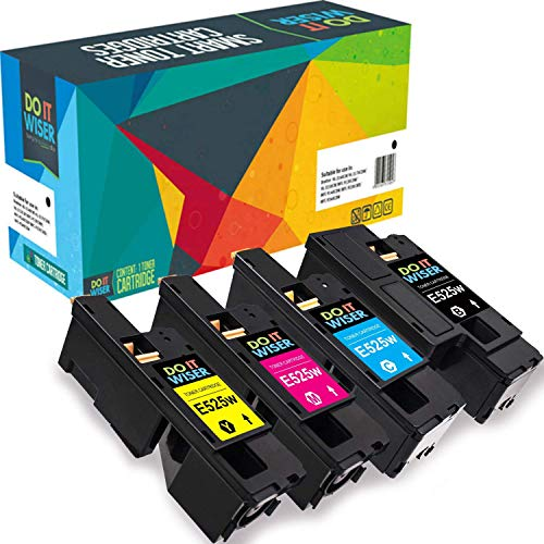 Do it Wiser ® Compatible for Dell E525W E525 Toner Cartridges High Yield |  593-BBLN 593-BBLL 593-BBLZ 593-BBLV | 4 Pack