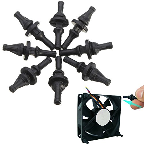 Anti-vibrations-fan (chengyida 32Pack Silikon Rubber Fan Screw für Mount Anti-Vibrations-Cooling PC Fall)