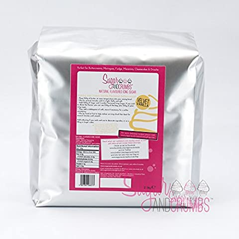 Velvet Vanilla Natural Flavoured Icing Sugar for Cakes and Bakes