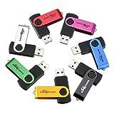 BESTRUNNER 32GB USB 3.0 Stick Speicherstick Flash Drive Memory Speicher Farbig Geschenk Gold