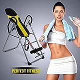Tomasa Fitnessgeräte Schwerkraft Inversionsbank Rückentrainer zur Streckung der Wirbelsäule bis 150 kg Home Gym Fitness Training