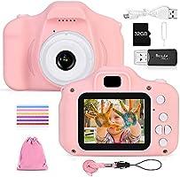 Faburo Macchina Digitale Bambini con Scheda SD 32 GB, Fotocamera Bambino Portatile Digital Camera Kids Videocamera...