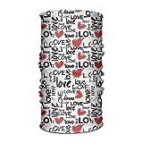 Bikofhd Unisex Lettera Amore Cuore Bandane multifunzionali Fascia Elastica Turbante Copricapo Foulard Beanie Fazzoletto Outdoor14