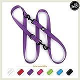[Gesponsert]Pets&Partner® Hundeleine aus Nylon / Doppelleine in verschiedenen Farben für mittlere bis große Hunde passend zu Halsband und Geschirr, Violett