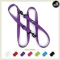 [Gesponsert]Pets&Partner Hundeleine aus Nylon | Doppelleine | Führleine in verschiedenen Farben für mittlere/mittelgroße und große Hunde passend zu Halsband und Geschirr, Violett