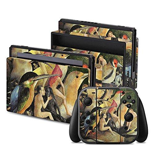 Preisvergleich Produktbild Nintendo Switch Folie Skin Sticker aus Vinyl-Folie Aufkleber Hieronymus Bosch Der Garten der Lüste Kunst
