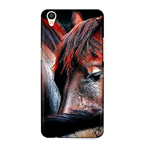 CrazyInk Premium 3D Back Cover for Oppo F1 Plus - Horse Sleeping