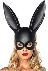 Halloween Make-up Ball Bunny Ohrmaske Maske Sklaverei Rabbit Maskerade Adult Dekoration,banner aufblasbar led michael myers masken erwachsene the purge (Black)