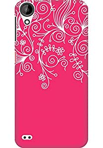 AMEZ designer printed 3d premium high quality back case cover for HTC Desire 630 (neon pink white design pattern abstract)
