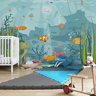 Apalis Kindertapeten Vliestapeten Nummer EK57 Meereslandschaft Fototapete Breit | Vlies Tapete Wandtapete Wandbild Foto 3D Fototapete für Schlafzimmer Wohnzimmer Küche | blau, 94743