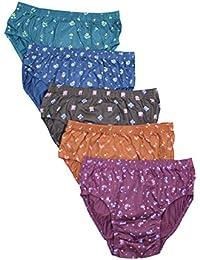 Pride Apparel Premium Combed Cotton Ladies Panties 5 Pack (75Cm - 100Cm)