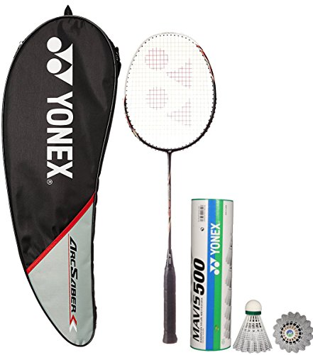 Yonex Arcsaber 100 THL & Mavis 500 Combo (Arcsaber 100 THL Taufic Hidayat Special Edition Badminton Racquet,Black + Mavis 500 Pack of 6 Shuttlecock)  available at amazon for Rs.3648