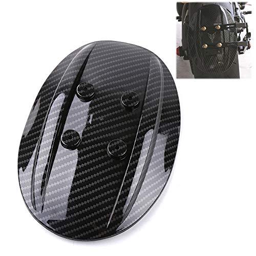 Kohlefaser Hinterrad Kettenschutzabdeckung Schutz 26 inches Kotflügelhalter hinten für Kawasaki Yamaha Allzweck Motorrad, Hinterrad, Spritzschutz