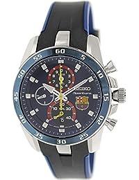 Seiko  SPC089P2 - Reloj de cuarzo para hombre, con correa de goma, color negro