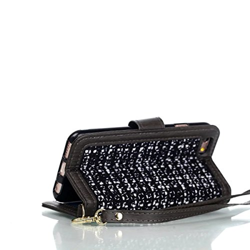 JIALUN-Telefon Fall Weaving Pattern PU Leder Schutzhülle Brieftasche Stand Case mit Card Slots und Foto Frame für Apple IPhone 6S Plus 5,5 Zoll ( Color : 2 ) 3