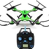 Yunshangauto JJRC H31 Etanche Sans tête Mode 360° RC Drone Quadcopter RTF Avec Lumière LED -Vert