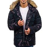 Btruely Jacke Herren Camouflage Winter Oberbekleidung Männer Parka Zipper Daunenjacke Groß Größe Wintermantel Hoodies Steppjacke