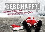 3 Stück Weihnachtskarten Doppelkarte mit Kuvert Karte Weihnachtskarte umgefallener Nikolaus, Weihnachtsmann