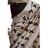 Harikrishnavilla Women's Latest Designer Party Wear New Collection Chanderi Cotton Bollywood Trendy Elegant 2018 Latest Designe Saree For Women With Bangalore Silk Unstitched Blouse ( Multi-Colour Butterfly, Free Size) - B07CJDRJ1K