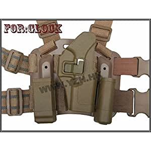 Airsoft Holster Cuisse CQC Rigide - Glock - droitier -TAN