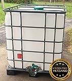 IBC 1000 l Container auf PE (HDPE) Palette Zustand gebraucht, hochdruckgereinigt
