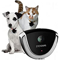 Eyenimal, Haustier-Überwachungskamera für Hund und Katze, zur Befestigung am Halsband, mit Mikrofon, 4GB Flash-Speicher