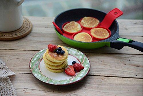 ☀ 2017 Nouveau produit ❤♡ Créer Parfait, Crêpes, Panicakes , omelettes et œufs, Ularmo® Premium Qualité Alimentaire Moule anti-adhésif en silicone outil de cuisine famille Pack ♡❤