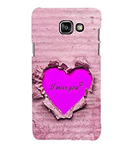 Fuson Premium Back Case Cover I love you With Brown Background Degined For Samsung Galaxy A5(2016)::Samsung Galaxy A5 A510F