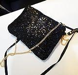 CC*CD Vintage Pailletten-Umschlag Party Abend kleine Tasche Handtasche Handtasche, schwarz