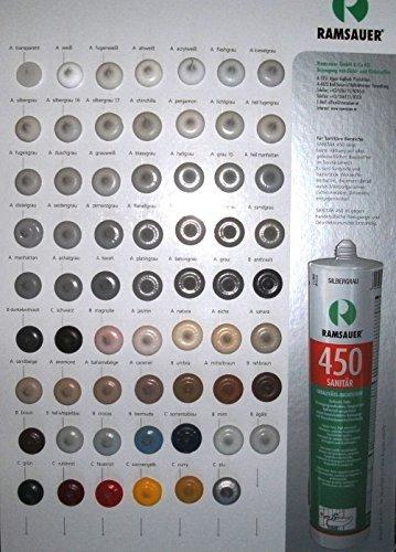 Ramsauer 450 Sanitär mint 1K Silikon Dichtstoff 310ml Kartusche - 2