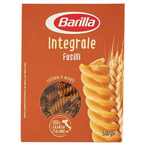Barilla Pasta Fusilli Integrali Pasta Corta di Semola Integrale di Grano Duro Integrale 500 g