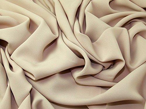 Prestige Polyester Crepe Kleid Stoff Champagner–Meterware (Crepe Polyester)