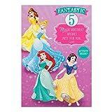 Hallmark Disney Prinzessin Geburtstagskarte, 2. Geburtstag, 'zum Ausmalen'– Medium 5nd Birthday - Geburtstagskarte zum Ausmalen
