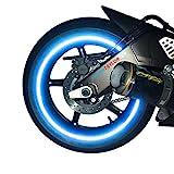 customTAYLOR33 (Alle Fahrzeuge Blau Hohe Intensität Reflektierend Sicherheit Felgenbänder, 17