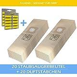 20 Staubsaugerbeutel + 20 Duftstäbchen Für KIRBY Generation 6 Ultimate G Micron Magic HEPA Filtration