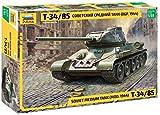ZVEZDA 500783687 - 1:35 T-34/85 Soviet medium tank, Modellbau, Bausatz, Standmodellbau, Hobby, Basteln, Plastikbausatz