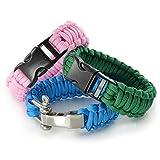 Paracord 550 Starter-Set einfarbig mit 3 Klickverschlüssen für Armband, Knüpfen von Hundeleine oder Hunde-Halsband
