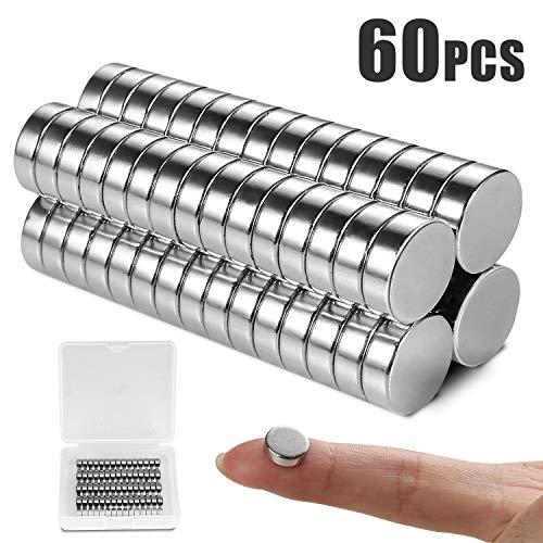 ALIENGT Magnete für Magnettafel Starke Magnete Kühlschrank WhiteboardMagnet (10mm x 3mm) 60 Stück Neodym Mini Magnete ExtraStark Klein Rund für Pinnwand Weißwandtafeln