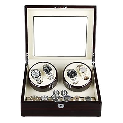 Caja de Relojes Automaticos Silenciosos FLOUREON Cajas Giratorias Watch Winder