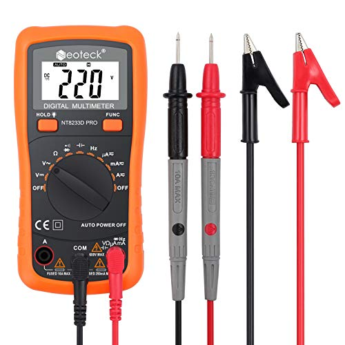 neoteck Auto Digital Multimeter AC/DC Spannung Strom Widerstand Multi Tester