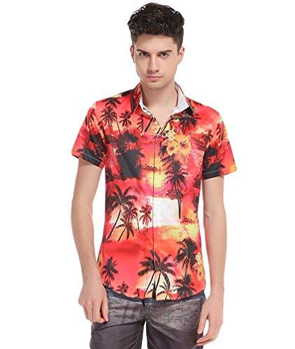 Baymate-Camisa-Hawaiana-para-Hombre-Manga-Corta-Casual-Impresin-Verano-Playa-Camiseta