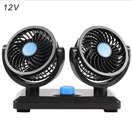Oddity Ventilador para automóvil eléctrico, Doble Cabezal 12V 24V Circulador de Aire...