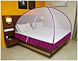 OnlineTree Double Bed Foldable Mosquito Net (PURPLE)